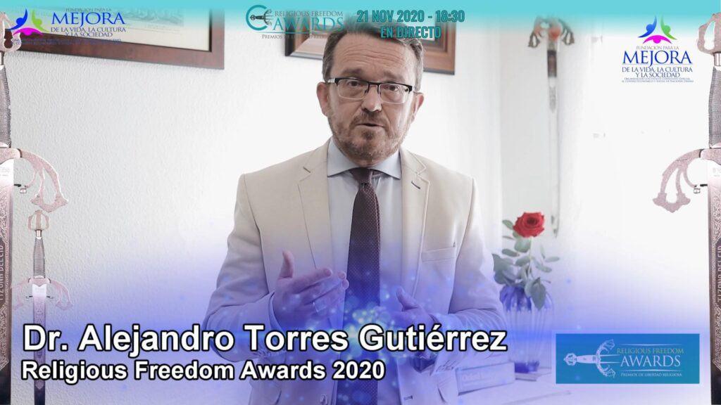 Prof. Dr. Alejandro Torres - Religious Freedom Awards 2020